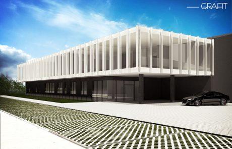 Projekt budynku przemysłowego [Sieradz]