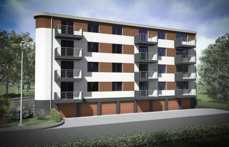 Projekt budynku mieszkalno-usługowego