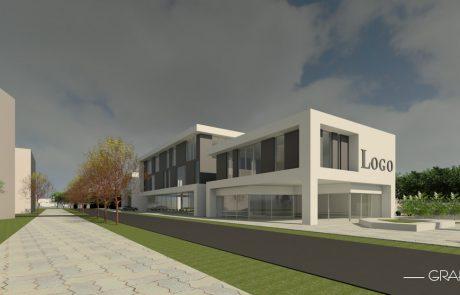 Projekt budynku usługowego